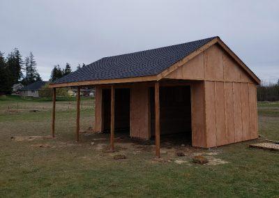 Cedar shed used as a barn