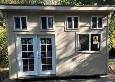 Modern back yard shed house