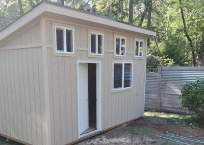 Backyard studio shed