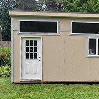 Half glass house door